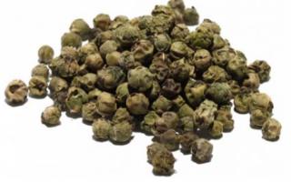 Зеленый перец горошком — кулинарное применение, описание свойств