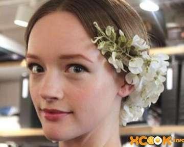 Свадебный низкий пучок на средние волосы — фото прически пошаговые с описанием (подробный мастер класс)