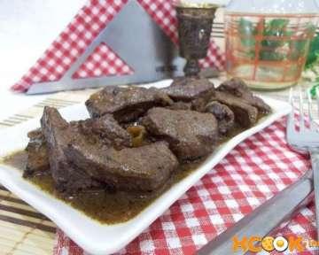 Как приготовить бефстроганов из говяжьей печени со сметаной — рецепт с пошаговыми фото