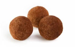 Конфеты трюфель – состав и калорийность, как приготовить в домашних условиях