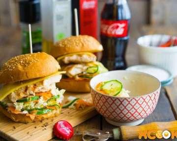 Гамбургер с куриной грудкой – пошаговый рецепт с фото, как приготовить в домашних условиях