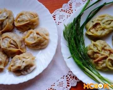 Узбекские манты с мясом и с тыквой — фото рецепт приготовления