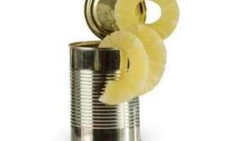 Консервированные ананасы — калорийность, свойства и польза