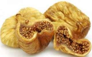 Сушеный инжир — калорийность, полезные свойства и вред