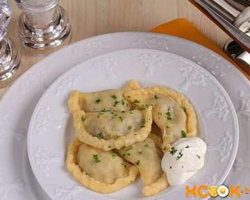 Вареники с картошкой и сушеными грибами — фото рецепт, как делать