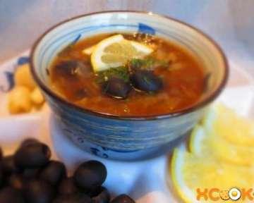 Солянка грибная сборная с солеными огурцами и прочими овощами — вкусный постный рецепт приготовления с фото