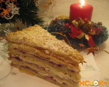 Рецепт приготовления новогоднего торта со штрейзелем