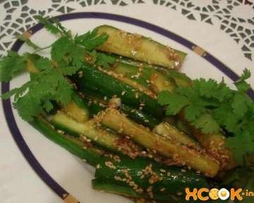 Вкусные огурцы по-корейски быстрого приготовления с кунжутом и соевым соусом – рецепт с пошаговыми фото