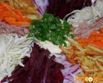 Классический татарский салат с говядиной и овощами – как приготовить вкусно, простой пошаговый рецепт с фото