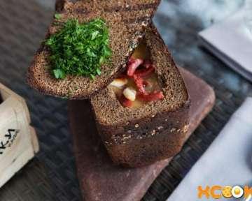Гороховый суп в черном хлебе – пошаговый рецепт с фото, как приготовить в домашних условиях