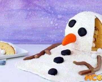 Сладкий съедобный снеговик – пошаговый рецепт с фото приготовления оригинального детского торта своими руками