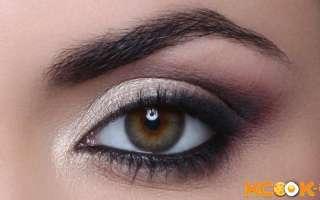Дымчатый макияж для зеленых, карих и голубых глаз пошагово — текстовая, фото и видео инструкция