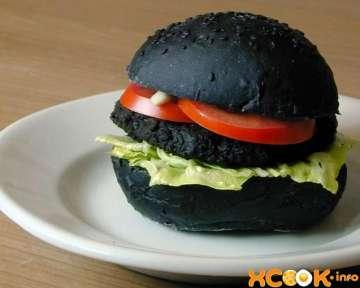 Черный бургер – пошаговый рецепт с фото, как сделать с булкой и другими ингредиентами в домашних условиях