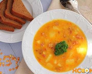 Гороховый суп с копчеными ребрышками — простой пошаговый рецепт приготовления с фото
