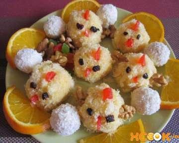 Пошаговый фото рецепт приготовления пирожных в виде цыплят в домашних условиях