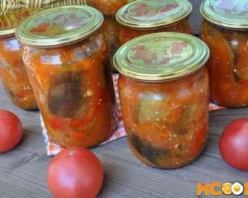 Сладкий болгарский перец с баклажанами — рецепт приготовления салата на зиму с фото