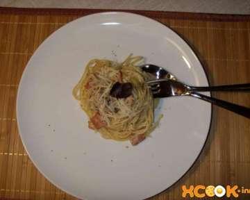 Паста карбонара с грибами, беконом и сливками – пошаговый рецепт с фото приготовления в домашних условиях