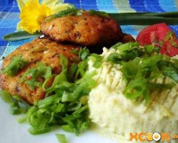 Вкусные рыбные котлетки с картофельным пюре — рецепт приготовления