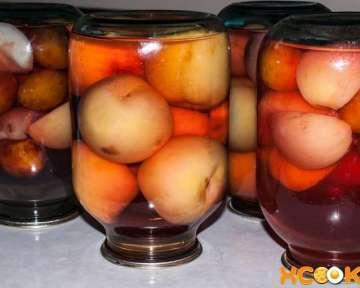 Компот из персиков с косточкой — простой рецепт с фото, как приготовить на зиму