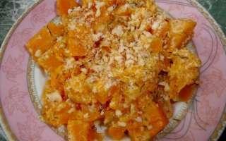 Тушеная в сметане тыква с чесноком — рецепт с фото, как приготовить на сковороде