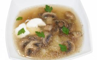 Грибной бульон — калорийность, польза и вред