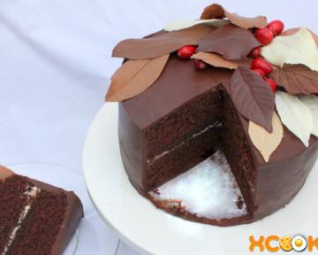 Рецепт приготовления шоколадных листьев для торта своими руками в домашних условиях с фото