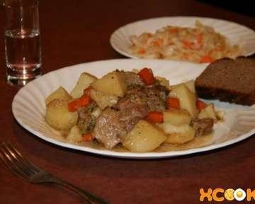 Тушеная баранина с картошкой в духовке – пошаговый рецепт с фото, как ее приготовить