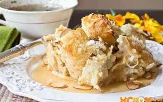 Хлебный пудинг — английский рецепт с фото, как приготовить