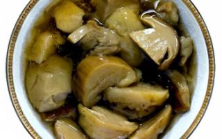 Белые грибы маринованные – фото продукта с описанием, состав и калорийность; что приготовить и рецепты блюд