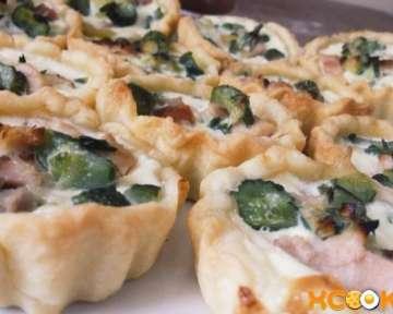 Вкусные тарталетки с копченой курицей и маринованным огурцом – простой пошаговый фото рецепт домашнего приготовления