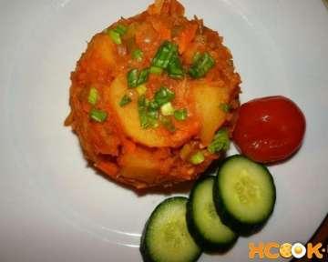 Как приготовить вегетарианский бигус с картошкой без мяса — пошаговый рецепт с фото