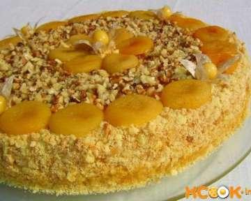 Пошаговый рецепт приготовления вкусного и ароматного абрикосового торта с фото в домашних условиях