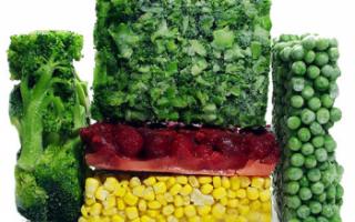 Замороженные овощи — калорийность, польза и вред