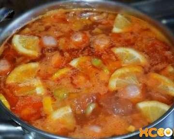 Суп солянка с сосисками по-домашнему – пошаговый рецепт с фото приготовления