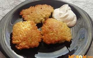 Рецепт с пошаговыми фото приготовления картофельных драников с мясным фаршем на сковороде
