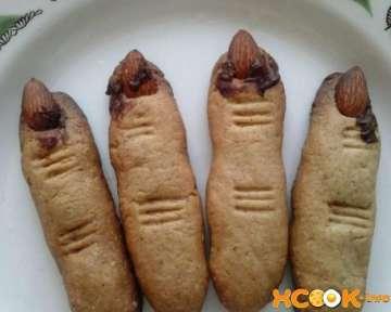 Печенье Пальцы ведьмы — фото рецепт на Хэллоуин