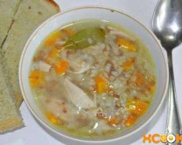 Гречневый суп на курином бульоне с грудкой – пошаговый рецепт с фото приготовления в домашних условиях
