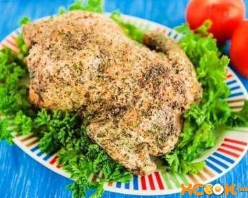Курица, запеченная целиком на соли в духовке, – пошаговый рецепт с фото ее приготовления