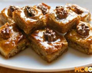 Пошаговый фото рецепт приготовления азербайджанской пахлавы с орехами