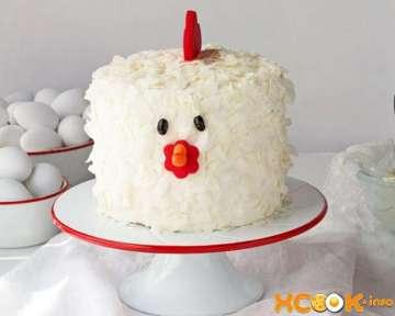 Фото рецепт пошагового приготовления новогоднего торта Петушок в домашних условиях