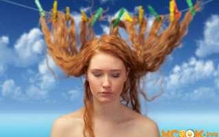Как можно очень быстро высушить длинные или короткие мокрые волосы без фена так, чтобы они были прямыми и объемными? – текстовая и видео инструкция