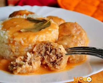 Пошаговый рецепт приготовления мясных тефтелей с рисом в соусе как в детском саду с фото