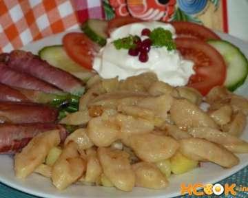 Пошаговый фото рецепт приготовления украинских галушек с картошкой
