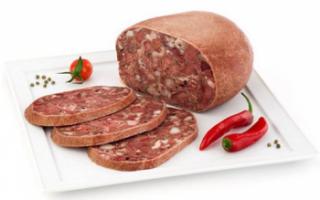 Описание колбасы Сальтисон с фото (свойства, пищевая ценность, калорийность), а также рецепт ее приготовления в домашних условиях