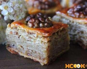 Турецкая пахлава медовая с орехами — рецепт с фото приготовления в домашних условиях