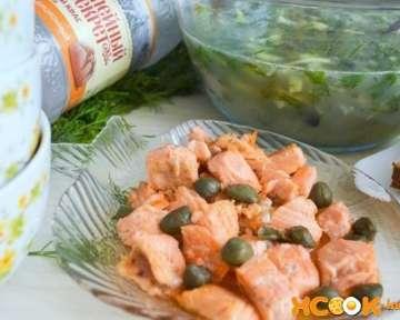 Постная окрошка с рыбой красной на квасе – пошаговый рецепт с фото, как приготовить с соленой семгой
