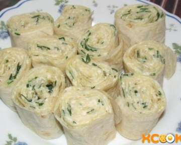 Рулетики из лаваша с сыром, яйцом, чесноком и зеленью – простой рецепт приготовления с пошаговыми фото