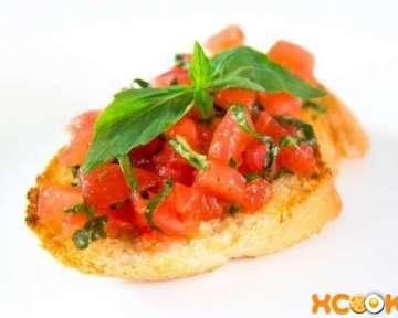 Брускетта с помидорами и базиликом – пошаговый рецепт с фото приготовления