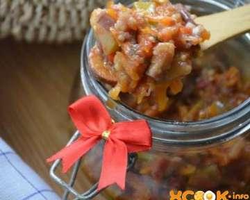 Фото рецепт приготовления консервированного овощного салата на зиму