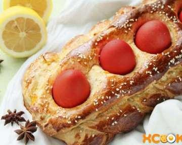 Греческий пасхальный хлеб — пошаговый рецепт с фото